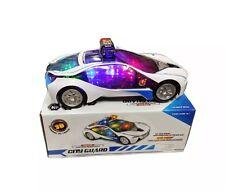 Bump & Go Automobile della polizia con lampeggiante luce & suono A Batteria Giocattolo