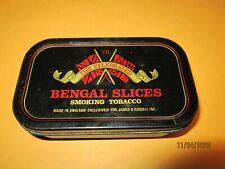 """Vintage Metal tin 4x2 1/2""""  box THE CELEBRATED Bengal Smoking Tobacco"""