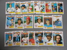 1984 Topps 1983 Glossy All Stars (22) card Set  Yaz Brett Carew Bench Schmidt