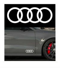Original Audi Q8 SQ8 Zeichen Heckklappe Ringe Black Edition Emblem Blackline OEM