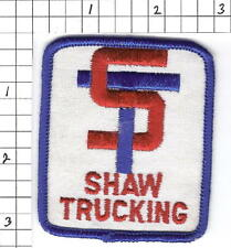 Shaw Trucking truck driver patch (G4)