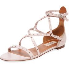valentino Garavani Strappy Grommet Leather Sandal Ballerina Ballet Flats Shoe 36