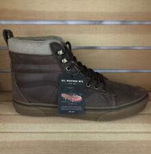VANS Sk8 Hi MTE Mens Size 10 Leather Brown Herringbone Gum VN0A33TXRJ2 NEW w Box