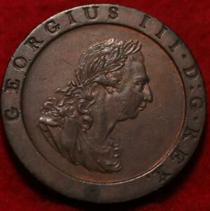 Uncirculated 1797 Great Britain One Penny Foreign Coin