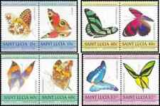 Timbres Papillons Ste Lucie 720/7 ** (37843)