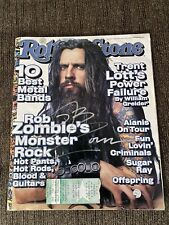 Signed Rob Zombie Rolling Stone Mag Cover W/ Concert Ticket Stub Coa