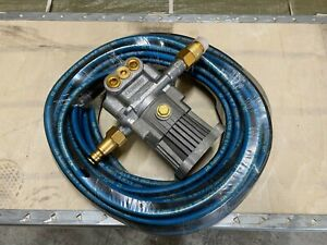 PETROL POWER WASHER PUMP NEW FITS 2.5 HP ENGINE 16 mm shaft new + 15 mtr hose