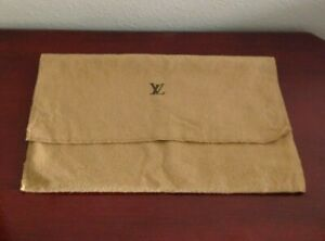 LOUIS VUITTON BEIGE DRAWSTING DUSTBAG  B072A.100% COTTON. MADE IN ITALY. 7x12