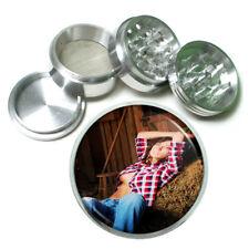 Farmers Daughter Pin Up Girls D3 63mm Aluminum Kitchen Grinder 4 Piece Herbs