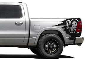 Hood Decal for Dodge Ram Crew Cab 1500 Ram Sport Design Vinyl Graphics Sticker