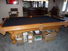 Brunswick 8 Foot Slate Pool Table, Chairs, Pictures & Accessories
