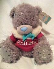 "Me To You Bear Wearing Winter Coat That Says Girlfriend - 10"" Plush - Brand New"