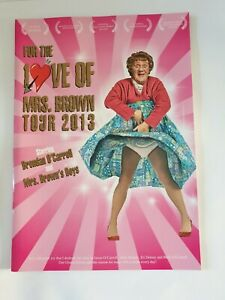 For The Love Of Mrs Brown Tour 2013 Tour Programme