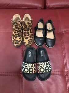 Lot of 3 Toddler Girls Shoes Size 10 Old Navy/Michael Kors/LovMark