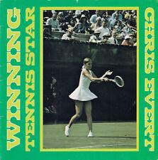CHRIS EVERT Chris Evert Winning Tennis Star 1977 Biography by O'Shea with Photos