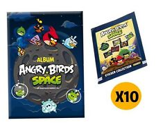 ANGRY BIRDS SPACE STICKER COLLECTION - 1 STICKER ALBUM  + 10 STICKER PACKS