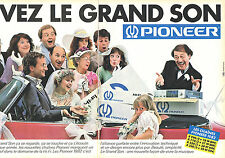 PUBLICITE ADVERTISING 124  1981  PIONEER   les chaines hi-fi ( 2p)