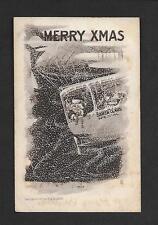 #113  Vintage Santa Claus in Air Ship Zeppelin copy 1909 E.B. Scofield 1900s