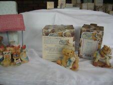 Lot of 3 Cherished Teddies Josephine, Junior, Mini, Friendship Theme ww