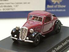 BOS Citroen Traction Avant Faux Cabrio 1934 dunkelrot/schw. - 87521 - 1:87