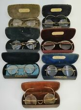 7x Vintage Men's wire rimmed glasses. ALL INCLUDED LENSES with cases - PREOWNED