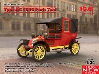 ICM 24030 Type AG 1910 Paris Taxi plastic model kit 1/24