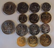POLONIA 1992+ SET 7 MONETE UNC 1 ZLOTY 1-2-5-10-20-50 GROSZY