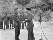 WW2  Photo WWII British General Montgomery Awarding Medal World War Two / 1566