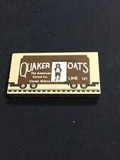 Cats Meow Village Quaker Oats Train Car Wood Accessory Retired Railroad 161