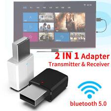USB bluetooth 5.0 3.5MM Transmitter Receiver AUX Car Audio Speaker Adapter TV PC