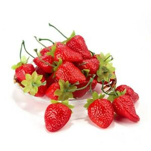 Christmas Photography Props Fake Strawberry Home Decor Artificial Fruit