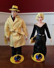 DICK TRACY & MAHONEY MADONNA FIGURES BY APPLAUSE ORIG TAG & STANDS * EXCELLENT
