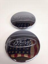 Pair Of Ford Focus OEM Wheel Center Cap Chrome Finish 2M51-1000-AA