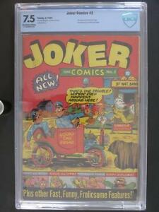 Joker Comics #2 - CBCS 7.5 VF- Timely 1942 - 1st Tessie the Typist - 3rd HIGHEST