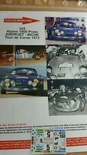 Decals 1/32 ref 545 Alpine Renault A110 Andruet Tour de Corse 1972 Rallye Rally