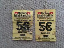 MOTO MARLBORO British Grand Prix Silverstone 1985 commerce des billets