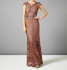 PHASE EIGHT BNWOT 'Cindy' Pink Lace Beaded Wedding Evening Dress Size UK 14