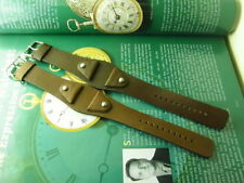 GENUINE NOS FOSSIL ARMY STYLE JR-8133 24MM BROWN LEATHER WATCH STRAP