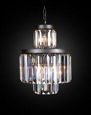 "15"" 6-LIGHT Vintage  industry Odeon Style Crystal  Restoration CHANDELIER"