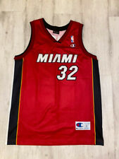 Shaquille O'Neal 32 Miami Heat NBA basketball jersey Champion Europe size L 44