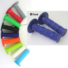 UNIVERSAL SOFT RUBBER HAND GRIPS MOTORCYCLE DIRTBIKE Dark Blue