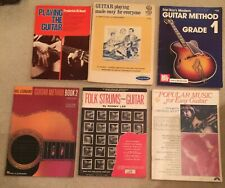 Lot 6 Guitar Instruction Method Music Books Songs Mel Bay Fred Noad Ronny Lee