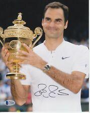 Roger Federer #11  8x10 Signed 8x10 Photo Beckett Tennis-Men