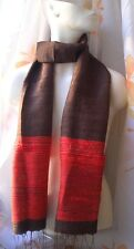 CHIC & Soffice -100% rohseide Sciarpa Rosso Marrone changierend handmade Scarf Red
