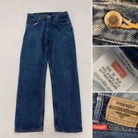 Genuine Vintage Wrangler Denim Jeans Blue Straight Slim Fit Casual W36 L34