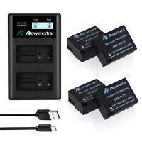 DMW-BLC12 Battery + Dual USB Charger for Panasonic Lumix DMC-GH2 G5 G6 GX8 G85