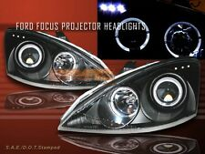 00 - 04 FORD FOCUS ZX3 ZX5 PROJECTOR HEADLIGHTS BLACK LED
