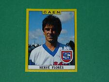 N°47 HERVE FLORES STADE MALHERBE CAEN PANINI FOOTBALL FOOT 89 1988-1989