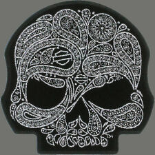 HARLEY DAVIDSON Willie G Skull Paisley Silver Metallic HARLEY PATCH