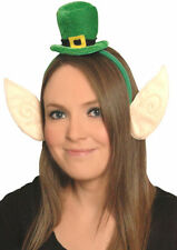Mini Leprechaun Top Hat Head Band With Attached Ears - St Patricks Day 00197